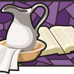 Basin, Towel, and Bible for Lent