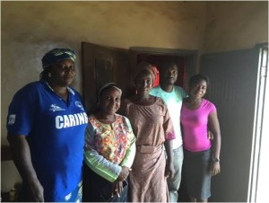 CCEPI staff with 3 widows