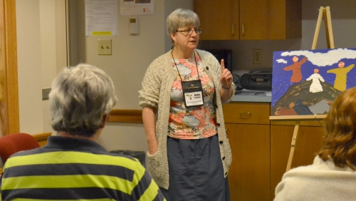 Debbie Eisenbise leading a workshop at the  2016 New Church Planting Conference.  Photo by Cheryl Brumbaugh-Cayford
