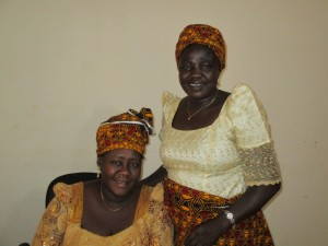 EYN Director of Women's Ministry, Suzan Mark and her assistant. (photo by Carl Hill)