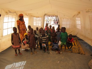 School in a tent donated by Unicef