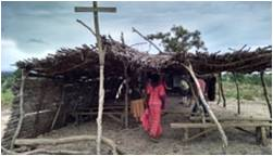 Masaka Corn Stalk Church – before destroyed by storms in Sept 	          Photo credit: Michele Gibbel