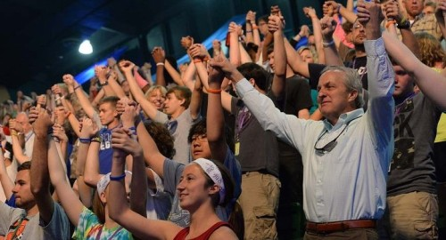 Blessed by God's grace at National Youth Conference 2014 . Photo by Nevin Dulabaum