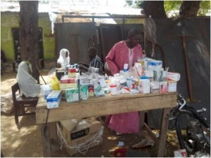 Medical Team with supplies