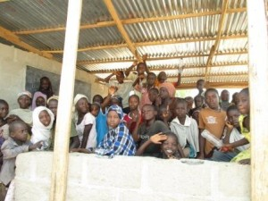 Children in Yola classrooms