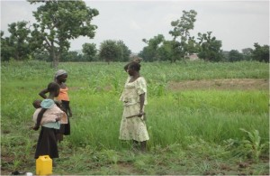 Recipients of Rice seeds and fertilizer.