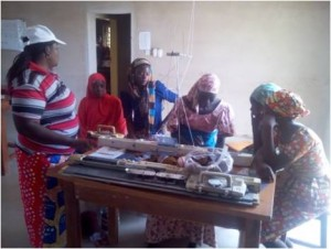 Knitting training at the Livelihood Center
