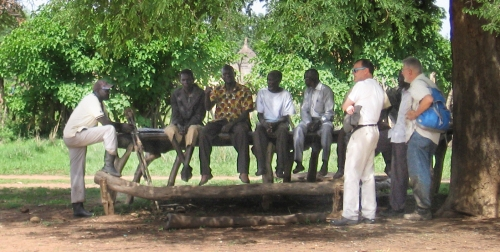 Village leaders meeting in Lohila, South Sudan. Photos by Becky Rhodes