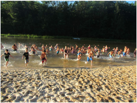 polar bear swim at Camp Blue Diamond