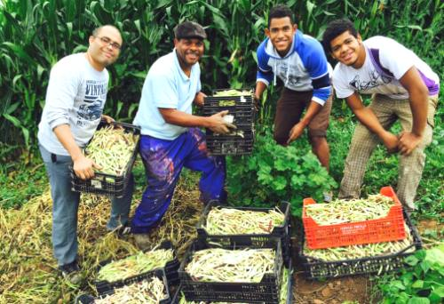 Partners of Mano Amiga de los Hermanos, a ministry of the Spanish Church of the Brethren, celebrating the harvest. Photo courtesy of Santos Terrero