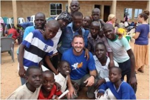 Adam Ulm with the orphans