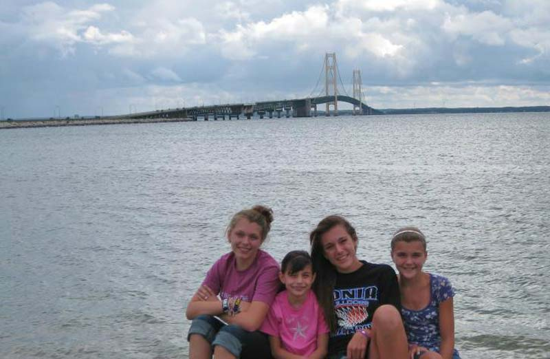 View of Mackinac Bridge