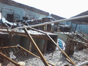Destroyed Chibok school
