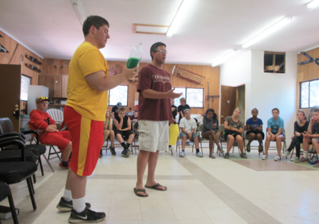 Group activity at Camp Colorado