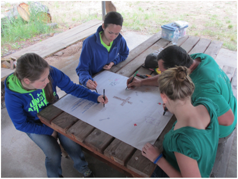 Art project at Camp Stover