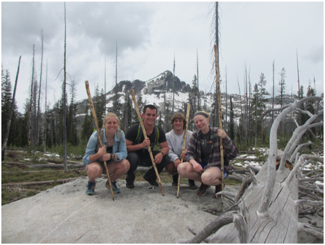 Hikers at Camp Wilbur Stover