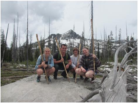 Hikers at Camp Wilbur Stover