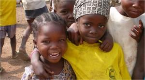 Happy children learning songs (by Carol Goss)