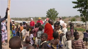 Children at the IDP camp (by Carol Goss)