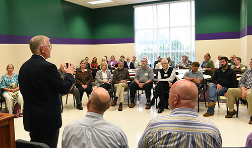 David Steele speaking with the group at the Atlantic Northeast District Listening Session. Photo by Glenn Riegel