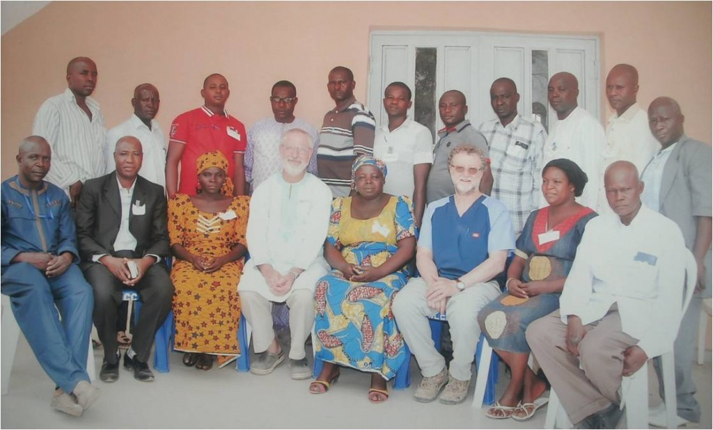 Group of dispensary staff and ICBDP medical workers that met for 2.5 days in Jos for a refresher course led by Norm and Paul