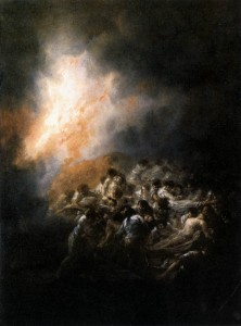 "Francisco de Goya's ""Fire By Night"""