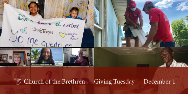 Read a Giving Tuesday reflection in this week's issue of eBrethren.