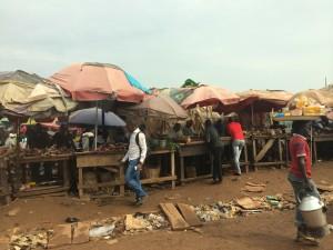Market scene in Nigeria