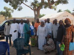 Teachers at the Yola temporary school
