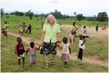 Photo credit: Katie Ulm Pat with EYN Internally Displaced children at Masaka Re-settlement Camp