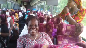 On the bus as part of the EYN Women's Choir Tour