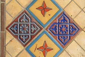 Malibu tile decorating the Serra Retreat Center