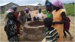 Children around the well