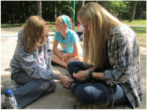 crafts at Camp Blue Diamond