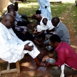 Foot washing at Kulp Bible College