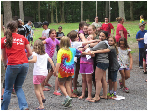 hugs at Camp Blue Diamond