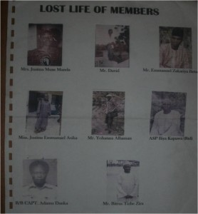 Nassarawo church members who were killed