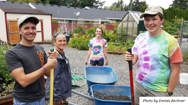 Workcampers in Portland, Ore., shared God's love through serving at SnowCap community gardens.